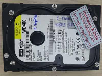 Western 40GB mất dữ liệu