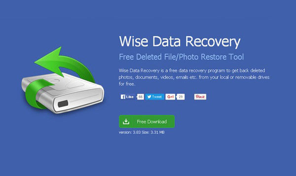 phần mềm Wise Data Recovery
