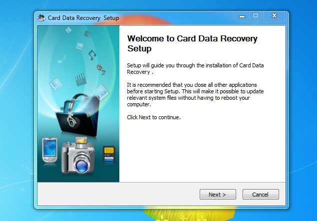 phần mềm Card data recovery