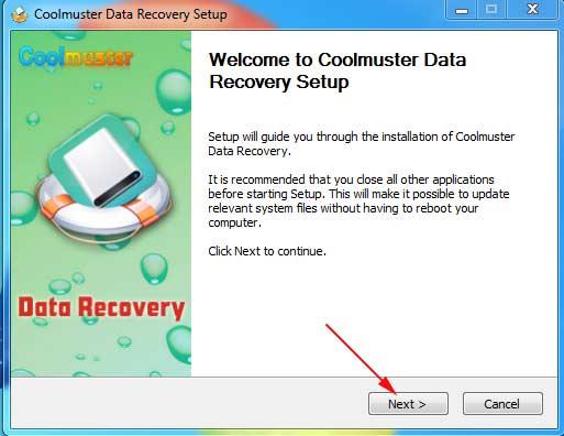 Cài đặt Coolmuster Data Recovery