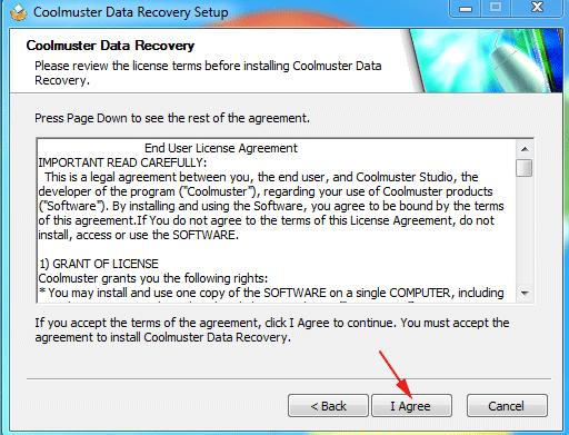 hướng dẫn cài đặt phần mềm Coolmuster Data Recovery