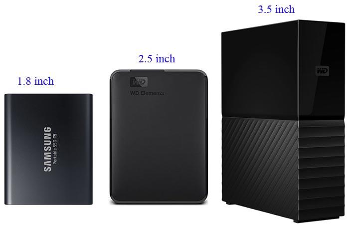 kích thước của ổ cứng