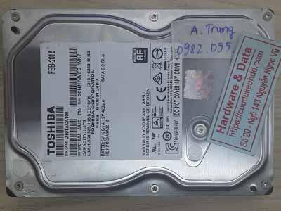 Toshiba 1TB đầu đọc lỗi