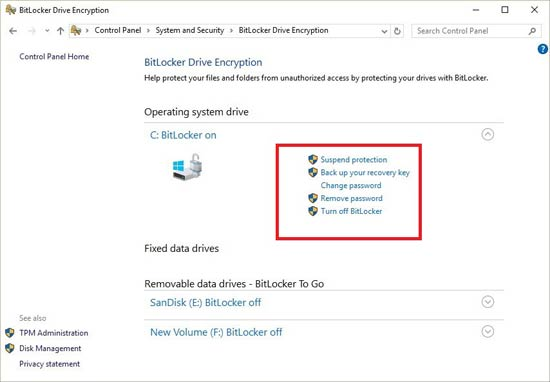 BitLocker Driver Encryption